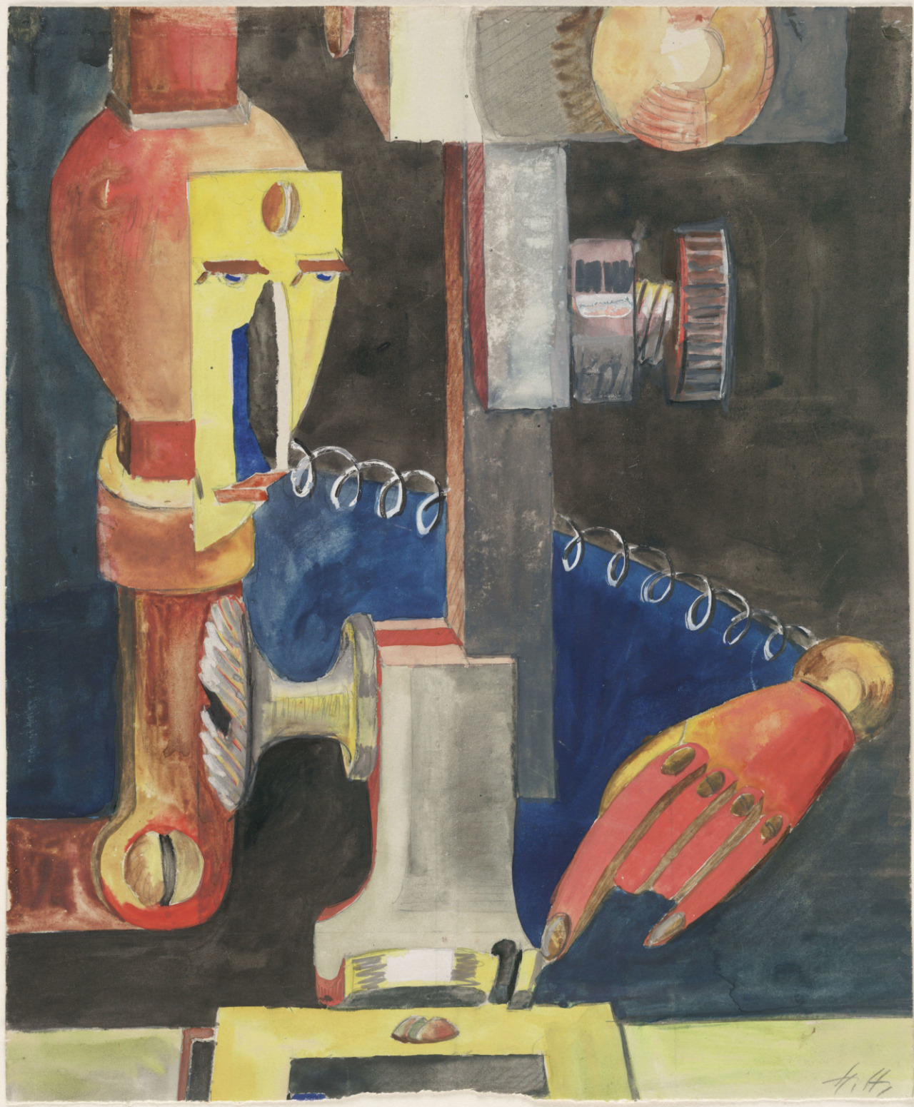 Hannah Höch, Study for Man and Machine, 1921