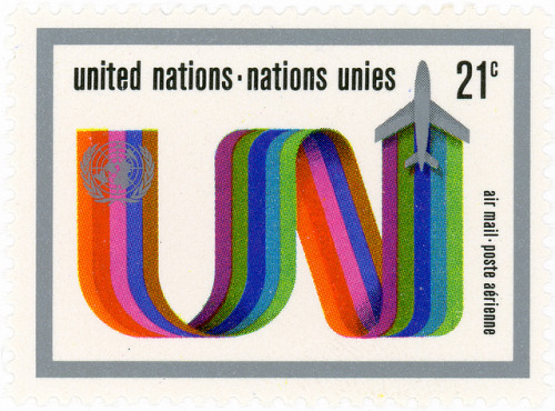 United Nations stamp: jetstream by karen horton on Flickr.United Nations stamp: jetstream c. 1972 designed by Asher Kalderon