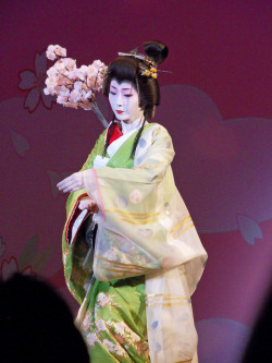 One of the Geisha of Gion performing in the 2010 Gion Odori.