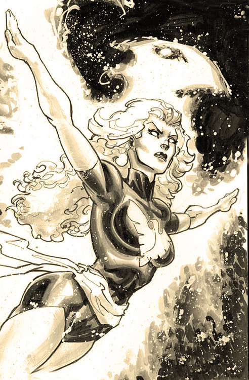 comicbookartwork:  Phoenix By Freddie Williams