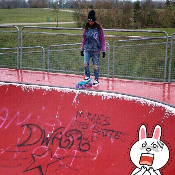 I did it or not ? Lol NOOOOOP but i had fun #skateboarding today with my #globebantam