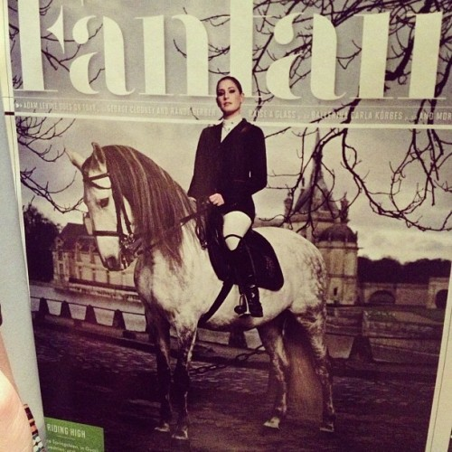 Fashion and horses. My two favorites together in Vanity Fair.