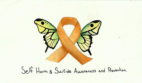 godmoves:  Self Harm Awareness Day - 1st March 2013 So the 1st March 2013 is Self Harm Awareness day and it would be great if people from Tumblr showed their support. Anyone can get involved all you have to do is either wear and orange ribbon or draw and orange butterfly on your arm. We're using the colour orange because it is the recognised colour for self harm awareness. We would also love it if you posted pictures of your ribbons and butterflies to show people that we do care and there is hope. So please reblog this and get the message out there for those who want to get involved. Also these are some websites that offer support: TWLOHA Childline (UK) Mental Health Foundation Self Harm Recovery Advice and Support Understanding Self Harm Love is Louder Half Of Us