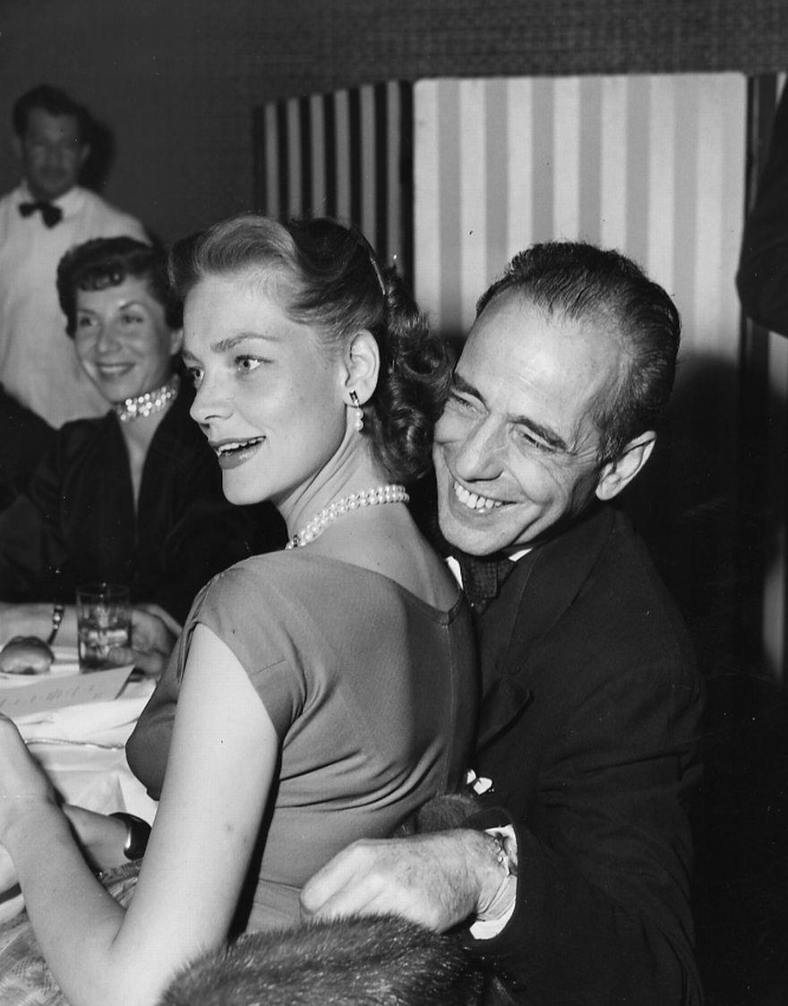 thefilmcanister:  Humphrey Bogart and Lauren Bacall enjoying themselves.