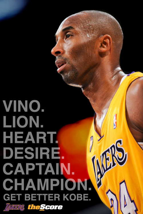 thescore:  Pic: Get Better @KobeBryant… The @NBA needs you. #Vino