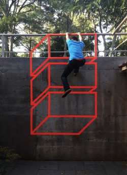 """Red Cubes Tape Sculpture"",  2012  By: AAKASH NIHALANI…."
