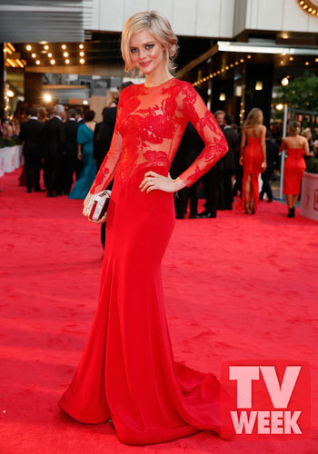 rikkimay:  Samara Weaving wearing Steven Khalil at the 2013 Logie Awards.