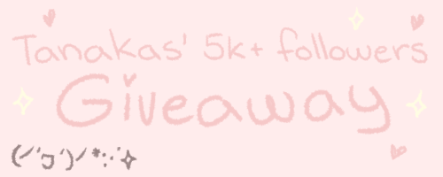 tanakas:  It's time for a new giveaway! I'm doing this to celebrate reaching 5000 followers and I thought this might be something people would like to get! What you can win: One Fujifilm Instax Mini 8 camera - Pink version + two pacs of film!!! (This is basically a polaroid camera, for those who dont know that these are.) One Tamagotchi P! Tamagotch P is a tamagotchi in color! Sadly they're only in japanese but they are not hard to learn to use at all. Rules: You can reblog this as many times as you want but try not to spam your followers (✿◠‿◠) You dont have to be following me but it would be nice if you at least checked out my blog, seeing this is a giveaway for my followers You have to have permission from your parents/ be comfortable with giving me your address so I can ship you these items! No giveaway blogs!! I will check! Likes dont count Your ask box must be open so I can contact you if you win! If the winner dont reply within two days I'll choose a new winner This giveaway ends May 15th! I'm willing to ship just about anywhere so shipping shouldn't be a problem! Good luck everyone! (ノ´ヮ´)ノ*:・゚✧♥