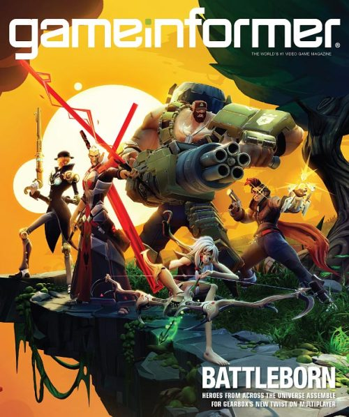 We announced our game today. I'm writingBattlebornand quite stoked about it. Check out the August issue of Game Informer for details.