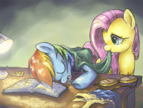 mlpfim-fanart:  Long Day by ~FlutterDashWhore