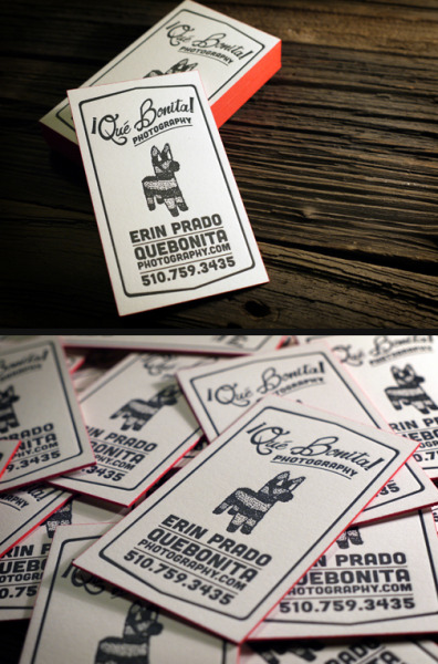 designersof:  Just in time for Cinco de Mayo! Piñata themed business cards on 236lb cotton paper.  | Print&Grain ————————get your work featured by submitting it to designersof.com
