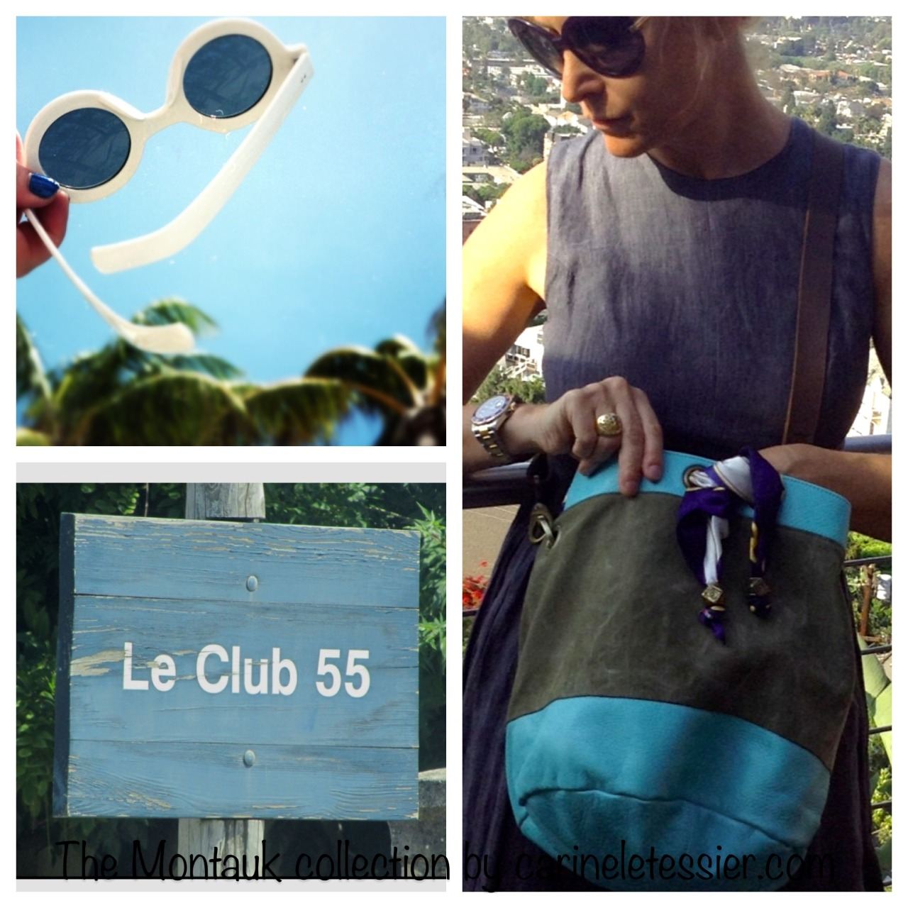 Montauk bag collection: aqua blue Montauk bag + sun glasses + Club 55. I am forgetting something? :)