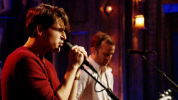 "latenightjimmy:  Vampire Weekend performed TWO songs off their new album last night! ""Ya Hey"" and ""Everlasting Arms.""  And I was there for this. Crazy."