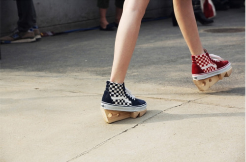 OMG. omg! How creative are these DIY Sk8-Hi's spotted during Tokyo Fashion Week on Style. Seriously dying over them. Now who do I know with a scroll saw and wood cutting talents…? -amanda