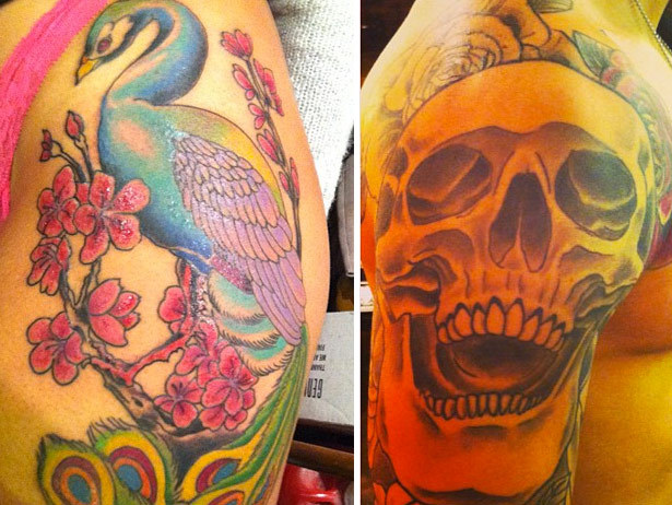Black Ink Crew's Ceaser shows off his tattoo work.