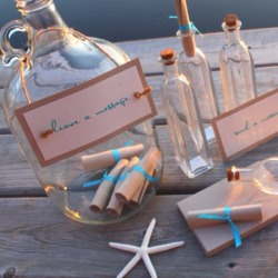 accessorizetoshine:  cool beach theme wedding guestbook idea