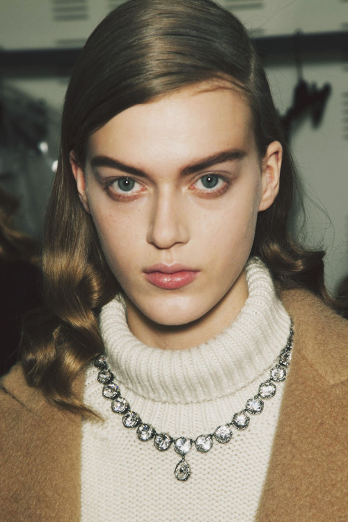backstage at Rochas, fall/winter 2013Tess Hellfeuer @ Women