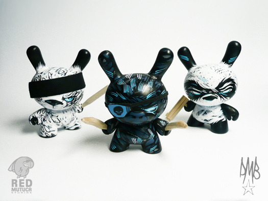 """Fight Squad"" Custom 3"" Kidrobot Dunnys by RunDMB. Commissioned. via"