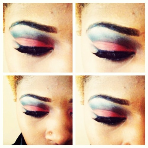 #cutcrease shadow I did on myself ! #bored #makeup #eyeshadow #lashes #throabackthursdayfriday