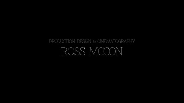 My credit title from 'Roundabout', a short film I made over Christmas.