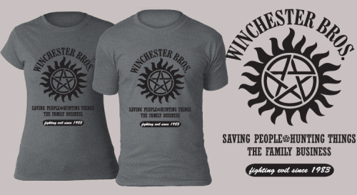 Coming soon to TeeBusters! Winchester Bros. will be available for purchase May 26 at TeeBusters. Stay tuned for more details!