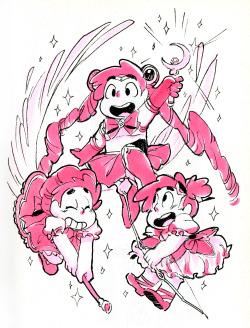 request Sketch crossover puella magi madoka magica sailor moon magical girl mahou shoujo Sakura card captor steven universe