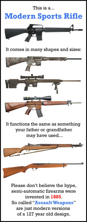 "Dont let the hype confuse the facts about so called ""Assault Weapons"""