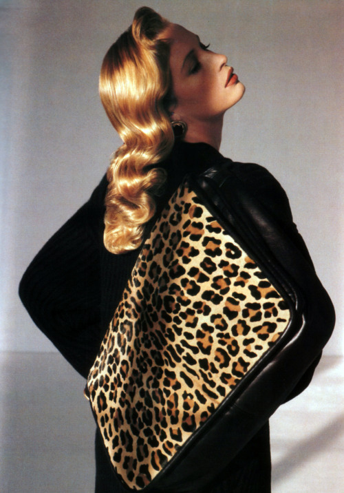 Anne Klein, American Vogue, September 1989. Photograph by Torkil Gudnason.