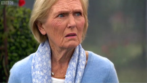 thefaggotry:  Mary Berry horror-face.  THREE RAISING AGENTS?!