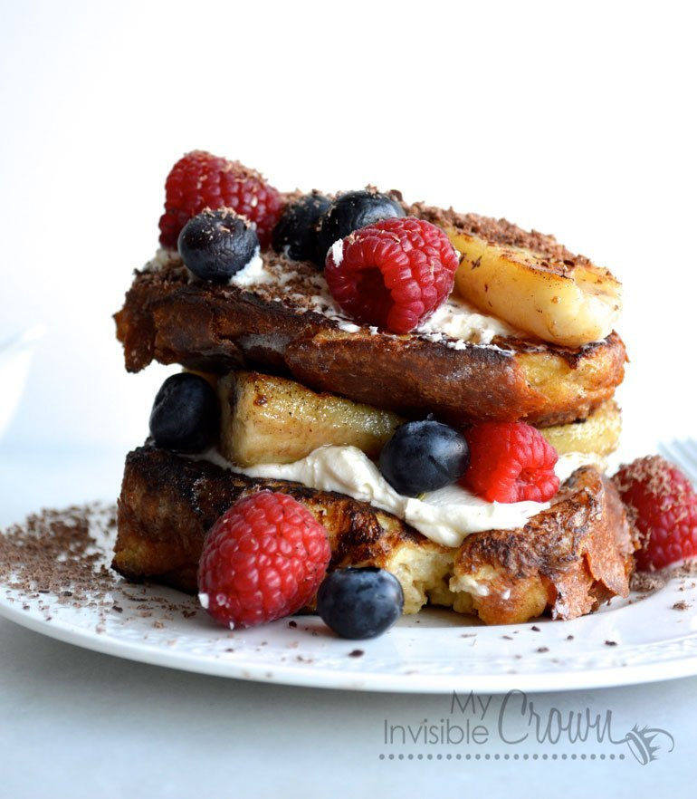 Banana Split Brioche French Toast
