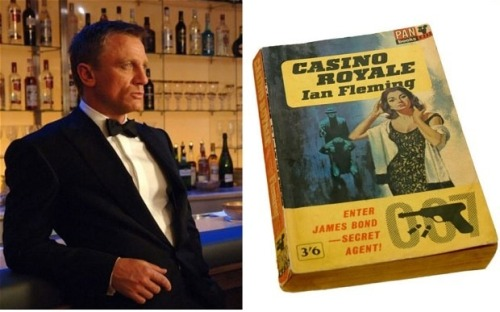 tic-tag:  Casino Royale: 60 years old today Ian Fleming's James Bond novel Casino Royale was first published on April 13 1953 and there is an intriguing tale behind the original screenplay of the 007 film adaptation.http://www.telegraph.co.uk/culture/film/jamesbond/9988216/Casino-Royale-60-years-old-today.html