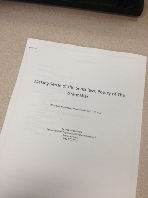 there she is. my beautiful senior project, my very own poetry anthology