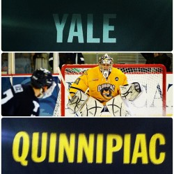 "Quinnipiac and Yale face-off Saturday, Feb. 2 at 7 p.m. at Yale. Watch the game live on CPTV. Show your Bobcat pride by wearing your ""Beat Yale T-shirt."" To purchase a shirt, visit www.quinnipiac.edu/beatyale."