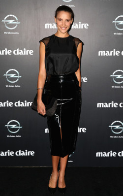 2013 PRIX DE MARIE CLAIRE AWARDS - RACHAEL FINCH Some of the biggest names in Australian beauty and fashion attended the annual Prix de Marie Claire Awards in Sydney last week. The black tie-style soiree was held at The Star, paying tribute to the industry with the likes ofLara Bingle, Megan Gale, Laura Dundovic and Jodi Anasta strutting the red carpet. The fab fashion masterminds also present included designers Camilla Franks, Alex Perry and Sass & Bide's Heidi Middleton and Sarah-Jane Clarke. More pics from the event here ! Image Source: Zimbio