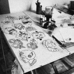 I have always wanted to bring along with me my dad's drawing table.