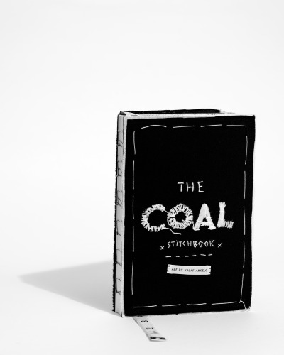 artcomesfirst:  ACF Scrapbook Journal (The COAL project). Made in Lisbon/Portugal.   The scrapbook's power to inspire - with carefully curated drawings, photographs and fabrics embedded - magnifyed exponentially by the journal's power to harness ideas - within the limitless potential of thick sheets of virgin white paper.   - Crafted by Art Comes First & Kalaf Angelo  - Picture by David Pattinson. - Words by Liam Maher.  Stitchbook by Kalaf Angelo, photographed for Art Comes First.