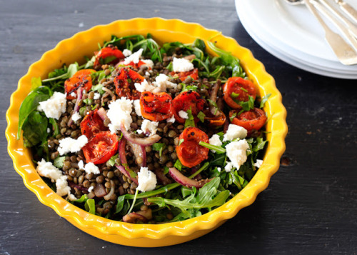 emigetsfit:  lentil and arugula salad