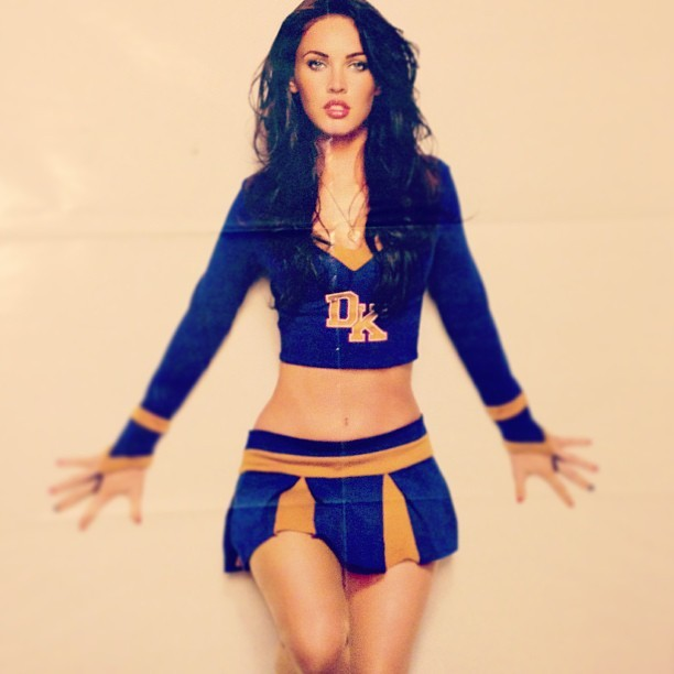 Above my bed, when really she should be in it #MeganFox
