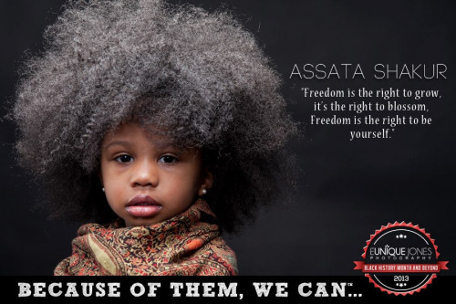 kindreadace:  Let's Get Free! Hands off Assata!  This is beautiful.