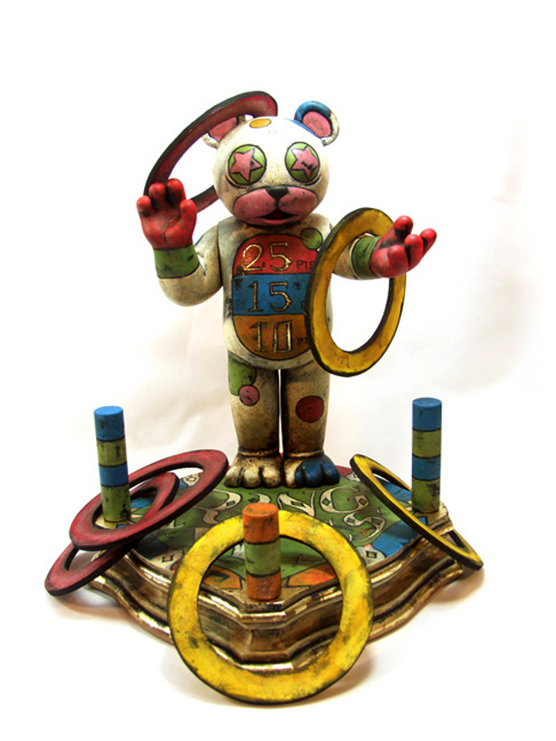 Ring-Toss Bear by Lee Gajda
