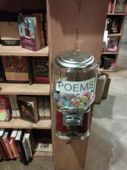 the-absolute-best-posts:  aurorium: Poems for $.50 in a small bookstore in San Francisco