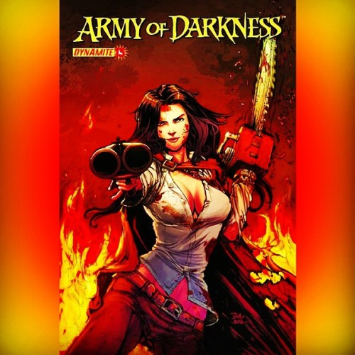 #ComicsAfterDark #ArmyOfDarkness #Ashley #Ash #GenderBender #AlternateUniverse #Dynamite #SMart #Shotgun #Chainsaw #BruceCampbell #EvilDead #comics #comicbooks #comicbooklegion #horror #nerd #geek