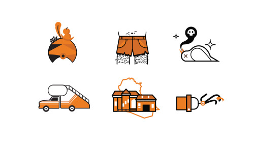 Styleframe icons for the upcoming Arrested Development season 4