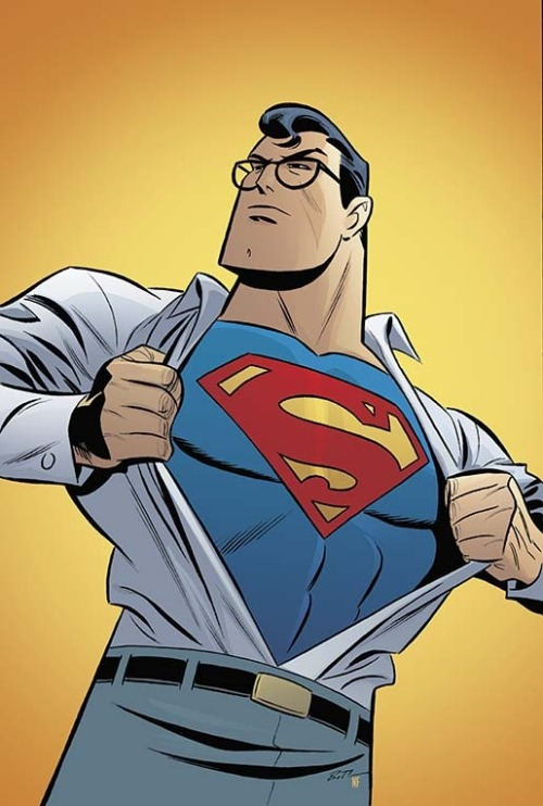 comicblah:  Adventures of Superman #4 cover by Bruce Timm