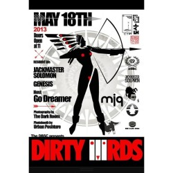 @levitators at it again… @thedbsc presents Dirty3rds this Saturday. Sounds by @genesisftl / @jackmastersolomon punching your auditory nerves in…. #FTL #TurnDownFaWhet