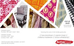 allanamay:  Pop Up Shop!!! Handmade Textiles from myself and 3 other ANU Textile Graduates Lonsdale Street Braddon in Canberra If around come check it out :)