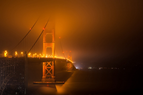 Witching Hour (Golden Gate Bridge), San Francisco by flatworldsedge on Flickr.