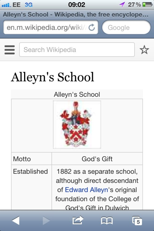 jesus, this boy went to fucking Alleyn's, check out their motto, lolllllll