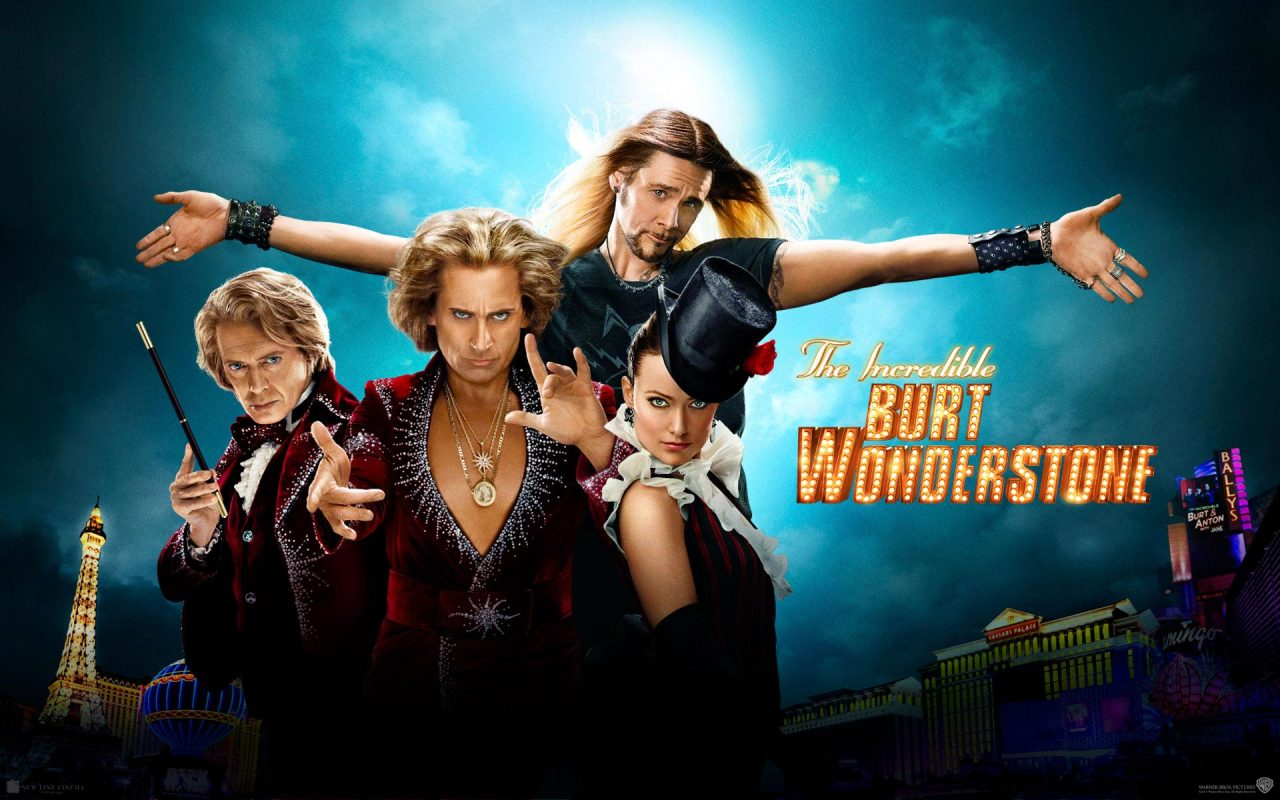 The Incredible Burt Wonderstone (2013)    When a street magician's stunt begins to make their show look stale, superstar magicians Burt Wonderstone and Anton Marvelton look to salvage on their act - and their friendship - by staging their own daring stunt.    The movie has some funny parts. No real punch lines. Nothing that will stick with you or make you remember the jokes. It's something you have seen before.It's an OK film.  All the actors did a good job. I loved Steve Carell's fake tan.  Not quite sure what Olive Wilde was doing in the film…she was just there. Quite random. Watch it when it's on TV. Watch the trailer (on YouTube) by clicking on the photo above.