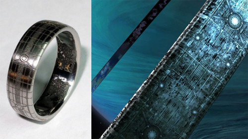 theomeganerd:  Halo ~ Custom Wedding Ring by Kotaku Reader Mike Normally I try not to post 'exclusive articles' from websites like this, however this is cool not to pass up.